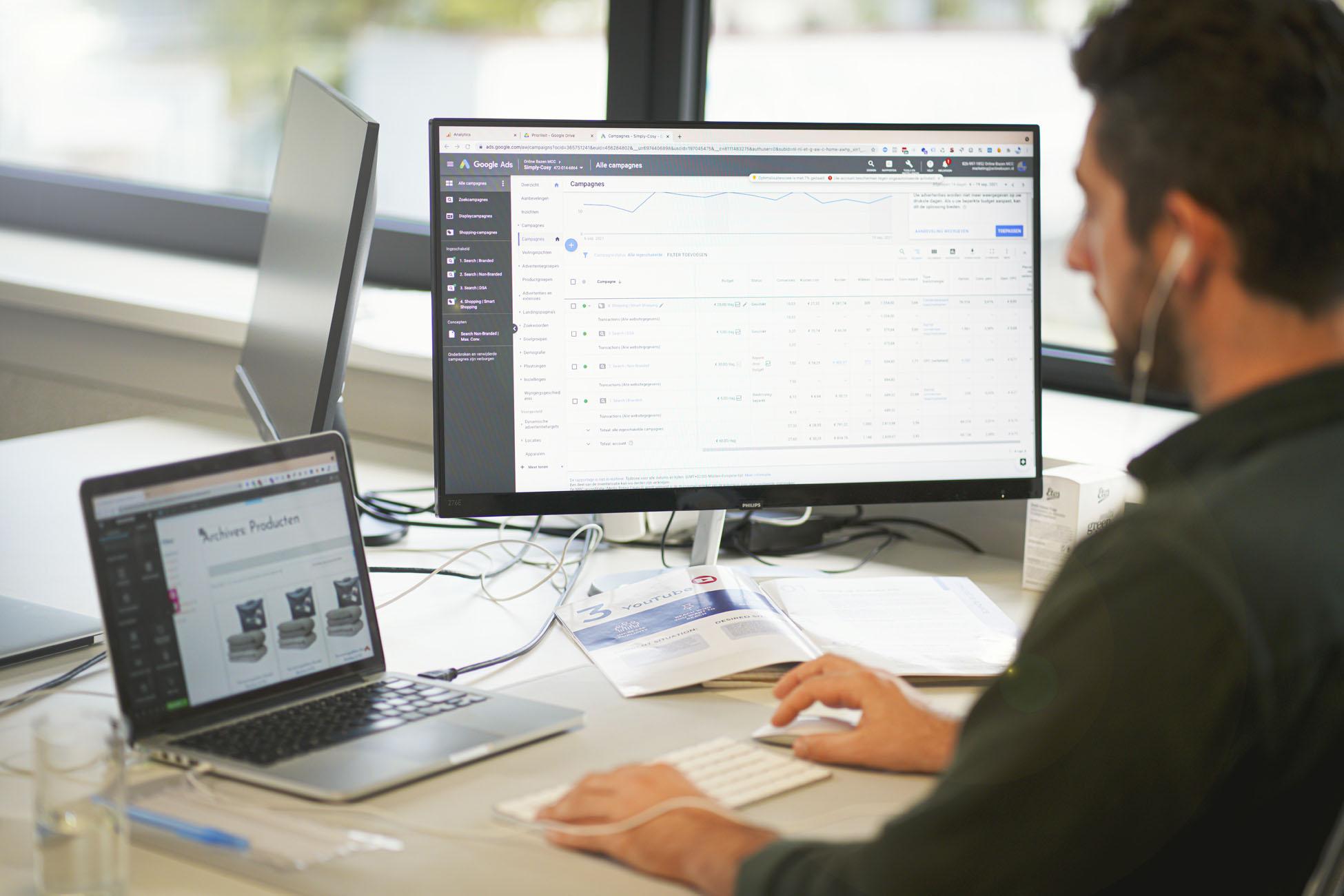 Online marketing uitvoer door ONline Bazen